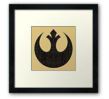 Rebel Alliance (black, distressed) Framed Print