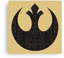 Rebel Alliance (black, distressed) Canvas Print