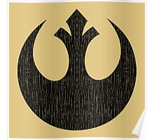 Rebel Alliance (black, distressed) Poster