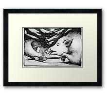Solstice Boar Hunt Framed Print