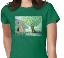Old Walnut Tree  Womens Fitted T-Shirt