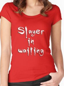 Slayer in waiting Women's Fitted Scoop T-Shirt