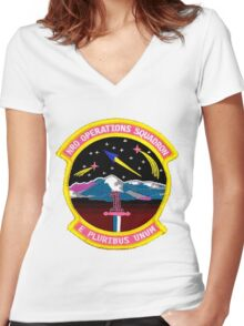 NRO Operations Squadron Women's Fitted V-Neck T-Shirt