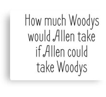 Woody Allen Joke Funny Saying Canvas Print
