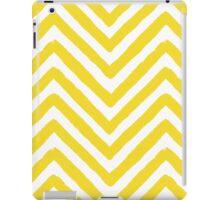 Chevron Yellow and White Pattern iPad Case/Skin