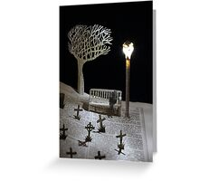 Paper craft lonely Churchyard book sculpture Greeting Card
