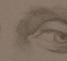 Angel eyes - sepia by Stevie the floating artist