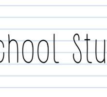 School Stuff Notebook Paper  Sticker