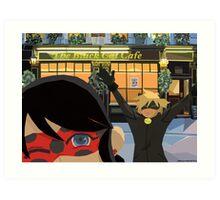 Chat Noir Cafe Art Print