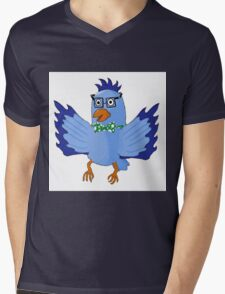 Fancy Feathers Mens V-Neck T-Shirt