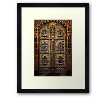 golden  gates altar Framed Print