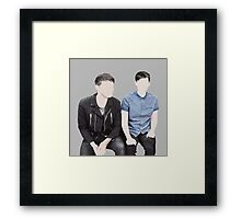 dan and phil on bbc breakfast Framed Print