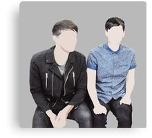 dan and phil on bbc breakfast Canvas Print