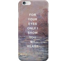 If I Could Fly Lyrics x Claude Monet iPhone Case/Skin