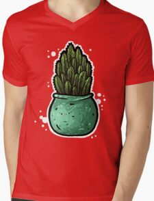 Cactus Mens V-Neck T-Shirt
