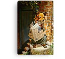 Well, All I Know Is What I Read In The Papers Canvas Print