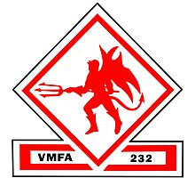 Marine Fighter Attack Squadron 232 Insignia  Photographic Print
