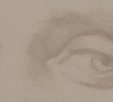 Angel eyes - light sepia by Stevie the floating artist