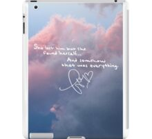 Taylor Swift Quote Notebook iPad Case/Skin