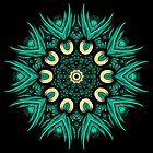 Green Pattern Kaleidoscope by fantasytripp