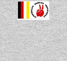 American Indian Movement with Flag Mens V-Neck T-Shirt