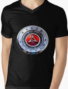 Classic Dodge Car Emblem  Mens V-Neck T-Shirt
