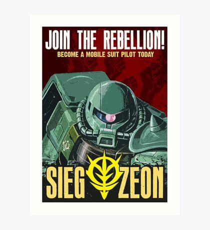 sieg-zeon Art Print