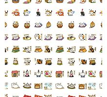 Neko Atsume Collage Photographic Print