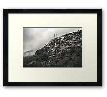 Ragged Rocks Framed Print