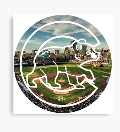 Chicago Cubs Stadium Logo Canvas Print