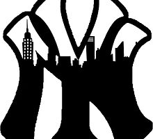 New York Yankees Skyline Logo by j423985