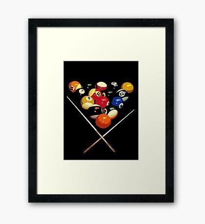 pool billard, billard balls Framed Print