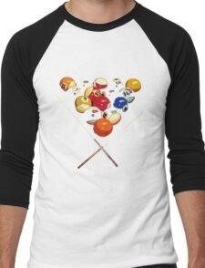 pool billard, billard balls Men's Baseball ¾ T-Shirt