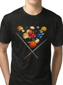 pool billard, billard balls Tri-blend T-Shirt