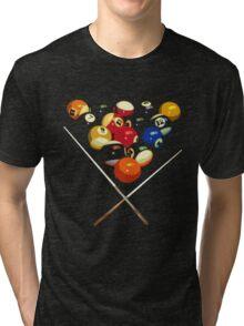 pool billard, billard balls Tri-blend T-Shirt