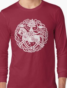 Odin Claus in White Long Sleeve T-Shirt