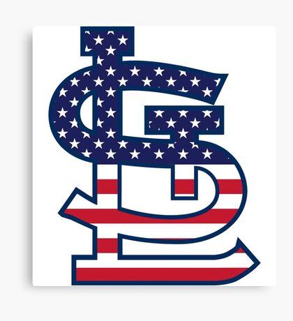 St Louis Cardinals Flag Logo Canvas Print