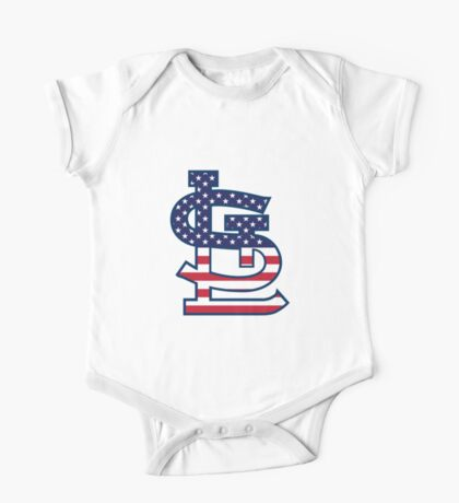 St Louis Cardinals Flag Logo One Piece - Short Sleeve