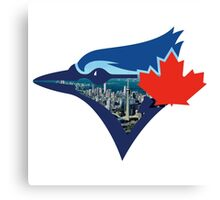 Toronto Blue Jays Skyline Logo Canvas Print