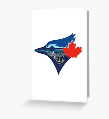 Toronto Blue Jays Skyline Logo Greeting Card