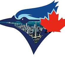 Toronto Blue Jays Skyline Logo by j423985