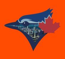 Toronto Blue Jays Skyline Logo Kids Tee