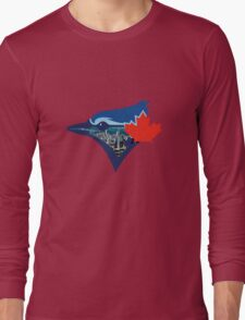 Toronto Blue Jays Skyline Logo Long Sleeve T-Shirt