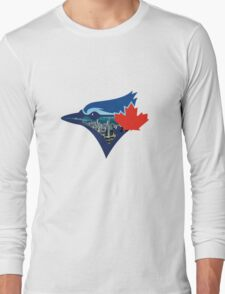 Toronto Blue Jays Skyline Logo Long Sleeve T-Shirt