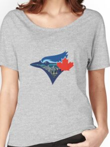Toronto Blue Jays Skyline Logo Women's Relaxed Fit T-Shirt