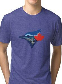 Toronto Blue Jays Skyline Logo Tri-blend T-Shirt