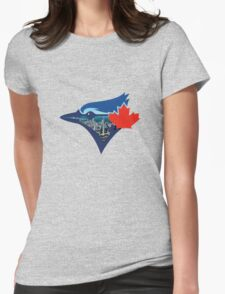 Toronto Blue Jays Skyline Logo Womens Fitted T-Shirt