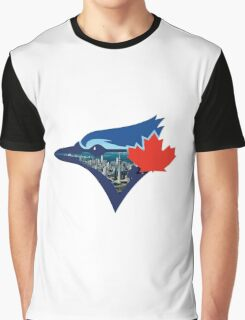 Toronto Blue Jays Skyline Logo Graphic T-Shirt