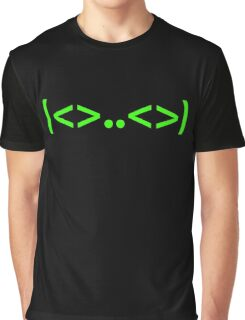 Kaomoji Alien Japanese Smiley Face Mark Emoticon Graphic T-Shirt