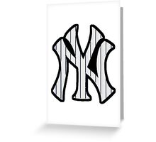 New York Yankees Pinstripes Logo Greeting Card
